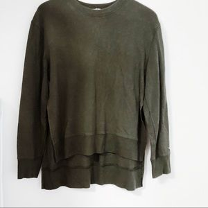 Joy Lab Olive Green Slit Side Sweatshirt